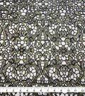 Casa Embellish Dahlia Sequin Embroidered Fabric-Multi Color