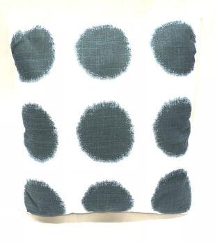 """Indigo Mist 18""""x18"""" Blue Dot Pillow"""