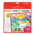 Faber-Castell Paint by Number Foil Fun Kit-Unicorn