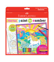 Faber-Castell Paint by Number Foil Fun Kit-Unicorn, , hi-res