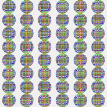 Multi-Coloured Check Balls 2