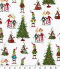 Christmas The Grinch Cotton Fabric-Grinchmas Gathering