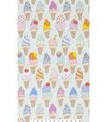 Novelty Cotton Fabric 45\u0022-Soft Serve Ice Cream