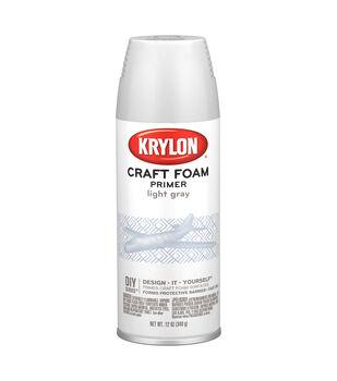 Krylon Craft Foam Primer-Light Gray
