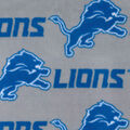 Detroit Lions Fleece Fabric -Gray