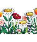 Stamping Bella Rubber Cling Stamp-Floral Forest Backdrop