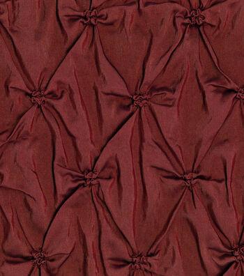 "Lightweight Decor Pinched Taffeta Fabric 53""-Burgundy"