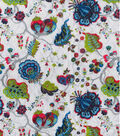 Double Faced Pre-Quilted Cotton Fabric 42\u0027\u0027-Jacobean Floral