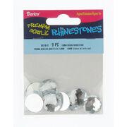 18mm Round Crystal Rhinestones, 9pc/pkg, , hi-res