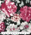 Anti-Pill Plush Fleece Fabric-Regal Watercolor Floral