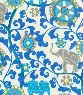 P/K Lifestyles Outdoor 8x8 Fabric Swatch-Menagerie/Sapphire