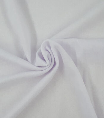 French Terry Fabric -White