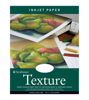 "Strathmore Inkjet Paper Texture 8.5""X11""-80lb 25 Sheets"