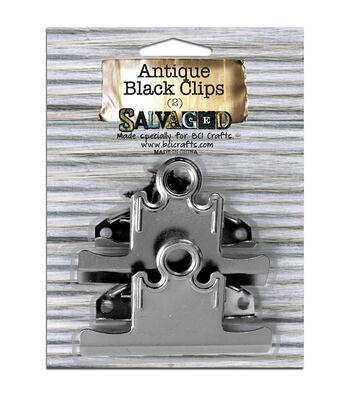 Salvaged Antique Black Clips