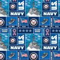 United States Navy Fleece Fabric -Allover