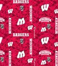 University of Wisconsin Badgers Fleece Fabric 43\u0022-Digital