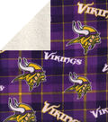 Minnesota Vikings Fleece Fabric-Plaid Sherpa