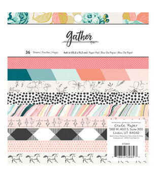 American Crafts Maggie Holmes Gather Pack of 36 6''x6'' Paper Pad