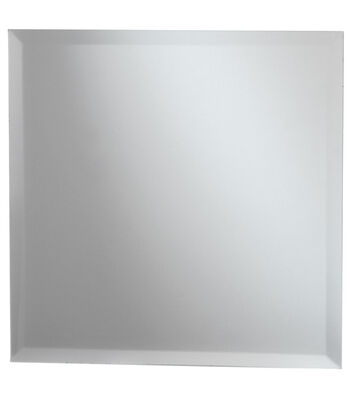 Darice 11.75'' Square Glass Mirror with Beveled Edge