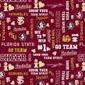 Florida State University Seminoles Cotton Fabric -Glitter