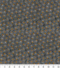 Halloween Cotton Fabric 44\u0022-Mini Spider Webs Glitter