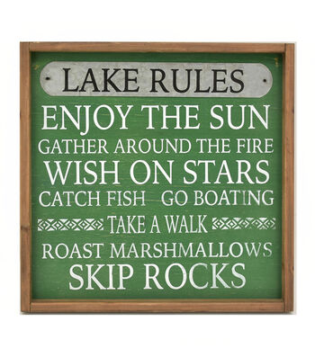 Camp Ann Wall Decor-Lake Rules