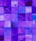 Anti-Pill Fleece Fabric -Purple Tile