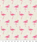 Home Essentials Upholstery Fabric 45\u0027\u0027-Pink Leg Up Flamingos