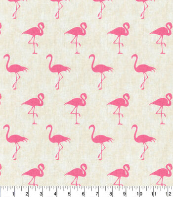 Home Essentials Upholstery Fabric 45''-Pink Leg Up Flamingos