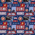 United States Marines Fleece Fabric -Allover