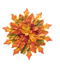 Blooming Autumn Leaves Placemat-Green & Orange