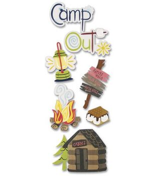 A Touch Of Jolees Dimensional Stickers-Camping