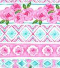 Nursery Flannel Fabric -Unicorn Floral & Aztec