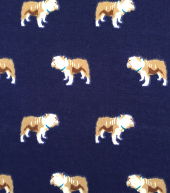 "Doodles Juvenile Apparel Fabric 57""-Stern Bulldog Interlock"