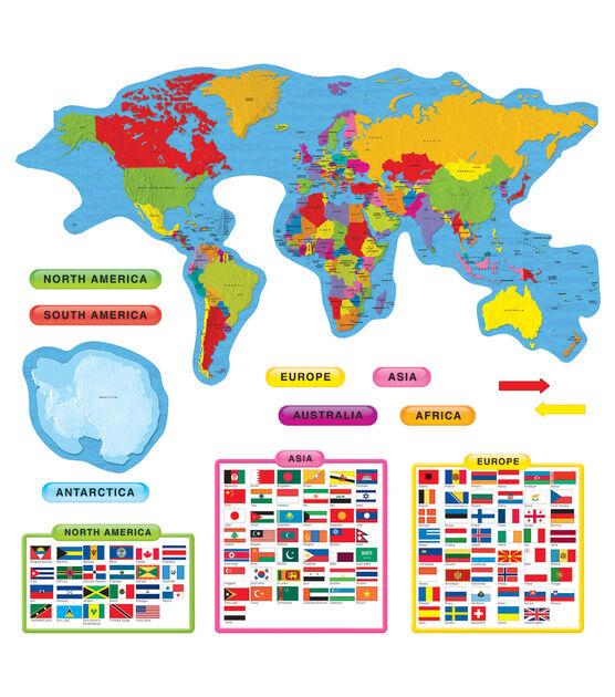 Continents & Countries Bulletin Board Set, 2 Sets, , hi-res, image 1