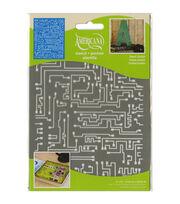 DecoArt Americana 6''x8'' Stencil-Short Circuit, , hi-res