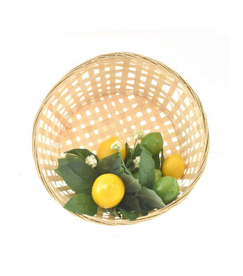 Fresh Picked Spring Lemons & Limes in Basket Wall Decor