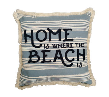 Seaport Pillow-Home is Where the Beach is