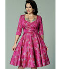 Butterick Pattern B6412 Misses\u0027 Full-Skirted Dress-Size 6-8-10-12-14
