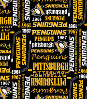 Pittsburgh Penguins Cotton Fabric -Writing, , hi-res