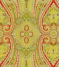 Waverly Paisley Pizzazz Lightweight Decor Fabric 54\u0022-Honeysuckle