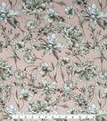 Knit Fabric 57\u0027\u0027-Sketchy Floral on Mauve