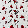 Chicago Bulls Cotton Fabric-Toss
