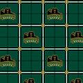 Baylor University Bears Flannel Fabric 42\u0022-Plaid