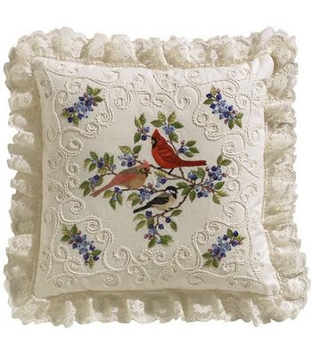 "Birds And Berries Candlewicking Embroidery Kit-14""X14"""