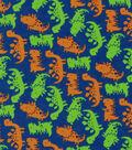 Snuggle Flannel Fabric 42\u0027\u0027-Orange & Green Dinos