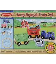 Melissa & Doug Farm Animal Train Set, , hi-res