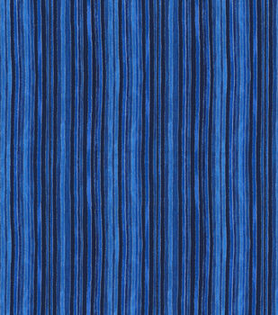 Keepsake Calico Cotton Fabric-Glitter & Blue Tonal Stripes