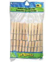 """Woodsies Medium Spring Clothespins-2-3/4"""" 40/Pkg, , hi-res"""