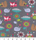 Snuggle Flannel Fabric -Tribal Owl And Friends
